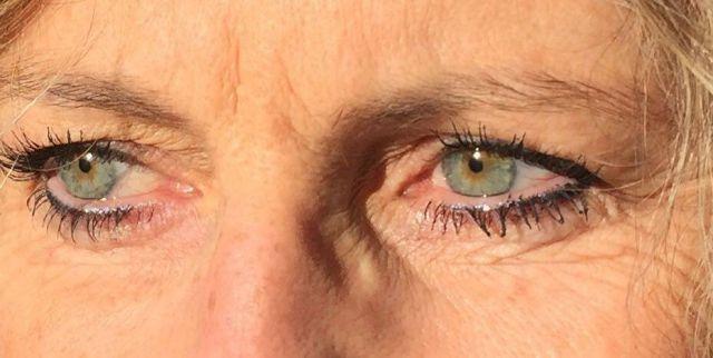 eye liner haut et bas après