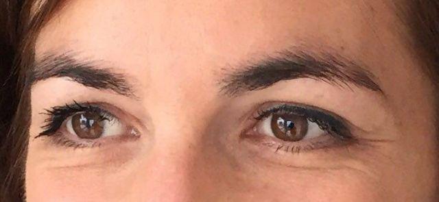 eye liner fin haut après